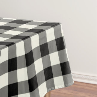 白黒ギンガムパターン点検のテーブルクロス テーブルクロス