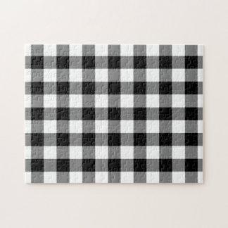 白黒ギンガムパターン ジグソーパズル