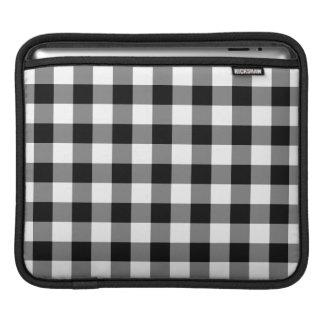 白黒ギンガムパターン iPadスリーブ