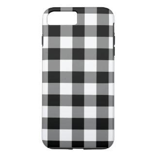 白黒ギンガムパターンiPhone 7のプラスの場合 iPhone 8 Plus/7 Plusケース