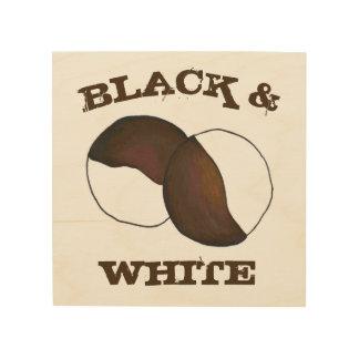 白黒クッキーNYCニューヨークの食糧台所 ウッドウォールアート