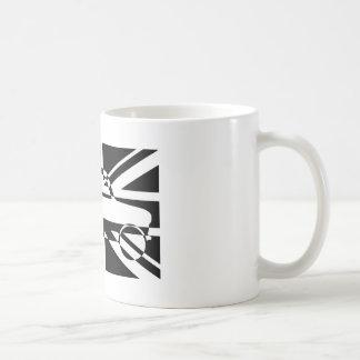 白黒クラシックな小型英国旗 コーヒーマグカップ