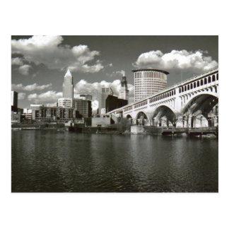 白黒クリーブランドオハイオ州 ポストカード