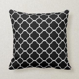 白黒クローバーの枕 クッション