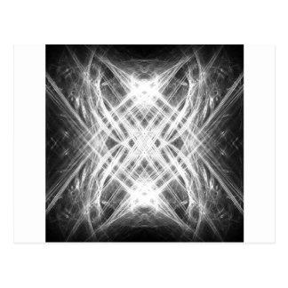 白黒グランジなパンク ポストカード