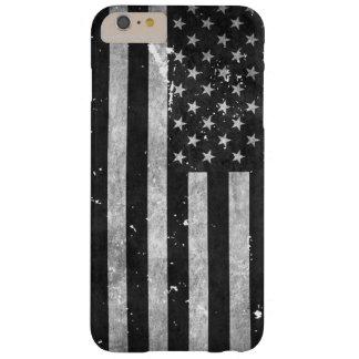 白黒グランジな米国旗 BARELY THERE iPhone 6 PLUS ケース