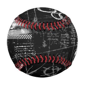白黒グランジな野球 野球ボール