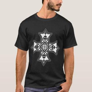 白黒コプトの十字 Tシャツ