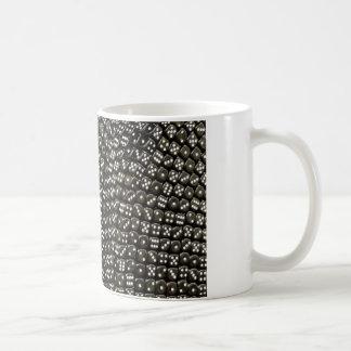 白黒サイコロの構造の壁 コーヒーマグカップ