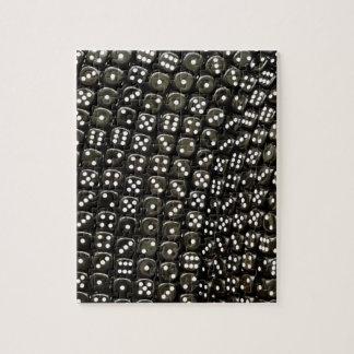 白黒サイコロの構造の壁 ジグソーパズル