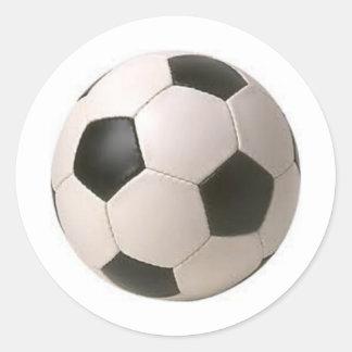 白黒サッカーボールのステッカー ラウンドシール