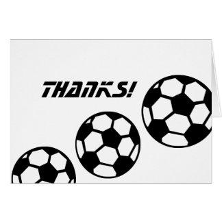 白黒サッカーボールは感謝していしています カード