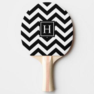 白黒シェブロンのモノグラムの卓球ラケット 卓球ラケット