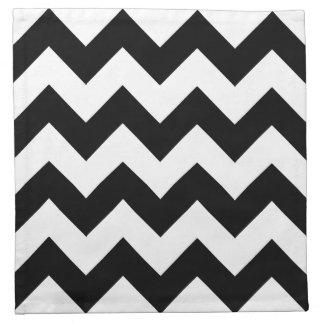白黒シェブロンの布のナプキン ナプキンクロス