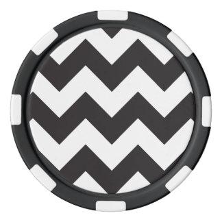 白黒シェブロン1 ポーカーチップ