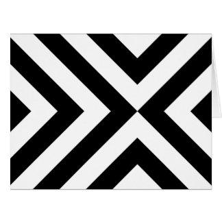 白黒シェブロン カード