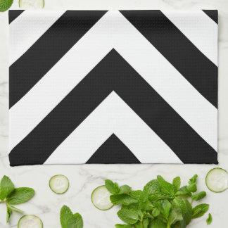 白黒シェブロン キッチンタオル