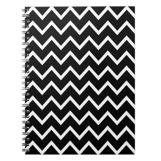 白黒シェブロン ノートブック