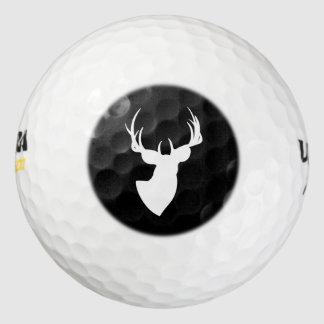 白黒シカのシルエット ゴルフボール