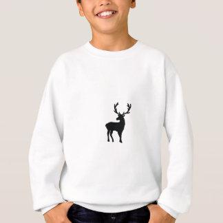 白黒シカ スウェットシャツ