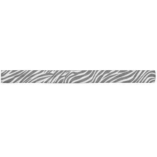 白黒シマウマのストライプパターン ヘアタイ