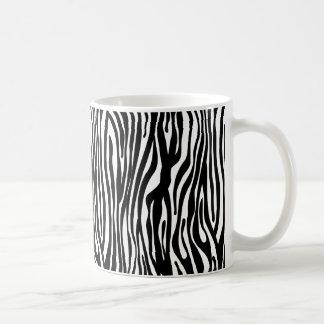 白黒シマウマのプリントパターン- コーヒーマグカップ