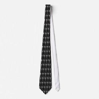 白黒シャンペンフルートのタイ オリジナルネクタイ