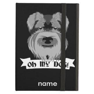白黒シュナウツァーOh私の犬 iPad Airケース
