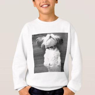 白黒シーズー(犬)Tzuの子犬 スウェットシャツ