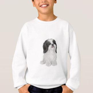 白黒シーズー(犬) Tzu - (JFによって) スウェットシャツ