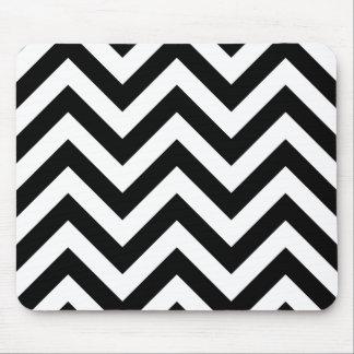 白黒ジグザグ形のシェブロンパターン マウスパッド