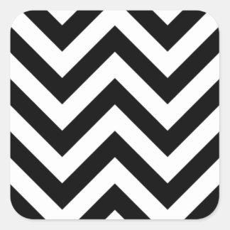 白黒ジグザグ形 スクエアシール