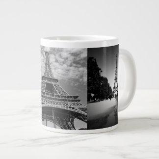 白黒ジャンボマグのエッフェル塔の意見 ジャンボコーヒーマグカップ