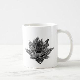 白黒スイレン コーヒーマグカップ
