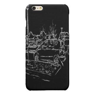 白黒スケッチ 光沢iPhone 6 PLUSケース
