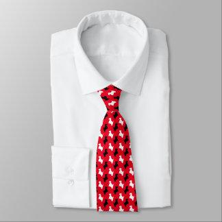 白黒スコッチテリアあなたの背景色 オリジナルネクタイ