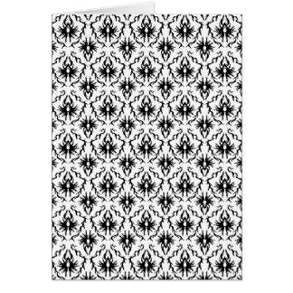 白黒スタイリッシュなダマスク織のデザイン。 カード