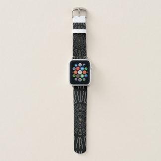 白黒スターバストのAppleの時計バンド Apple Watchバンド