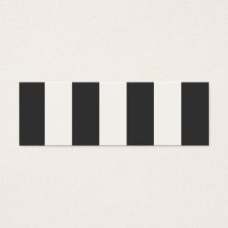 白黒ストライプの小型プロフィールカード スキニー名刺