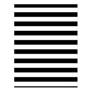 白黒ストライプ|のストライプのなデザイン ポストカード