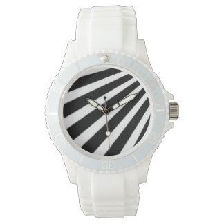白黒ストライプ 腕時計