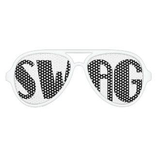 白黒スワッグのパーティーガラス アビエーターサングラス