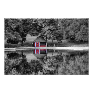 白黒セントラル・パークの景色の写真 フォトプリント