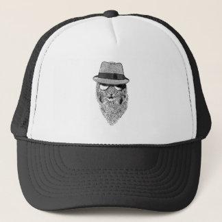 白黒ソフト帽ボブ キャップ