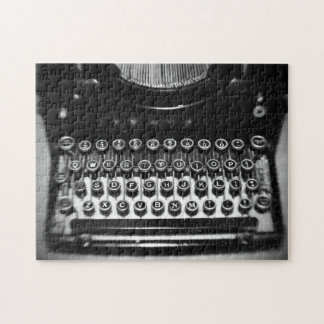 白黒タイプライター ジグソーパズル