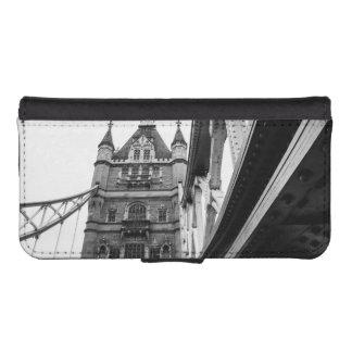 白黒タワー橋クローズアップ、ロンドン iPhoneSE/5/5sウォレットケース