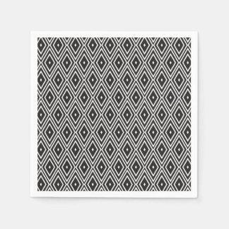 白黒ダイヤモンドのデザインのナプキン スタンダードカクテルナプキン