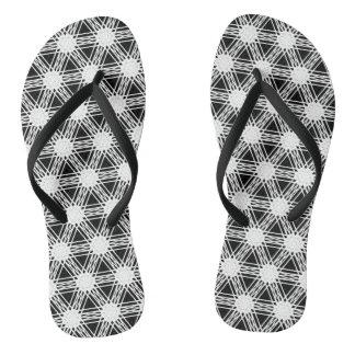 白黒ダイヤモンドの万華鏡のように千変万化するパターンパターン ビーチサンダル