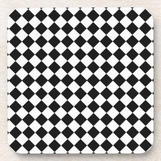 白黒ダイヤモンドの形パターン コースター
