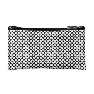 白黒ダイヤモンドパターン コスメティックバッグ